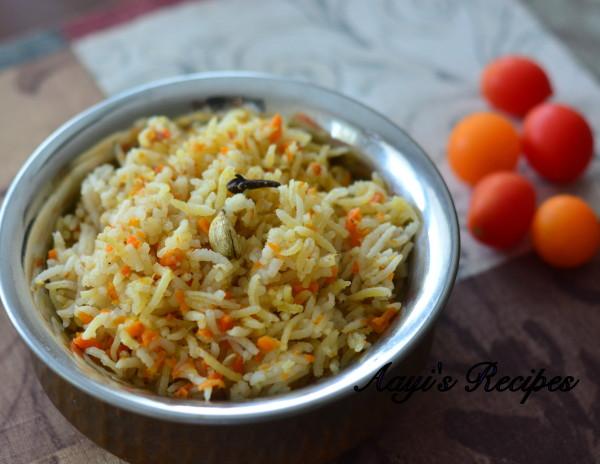 Carrot pulav
