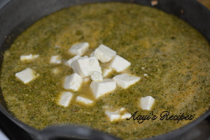 palak paneer with almond paste11