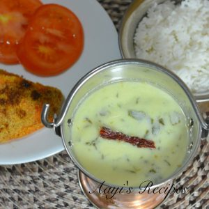 Spinach-Buttermilk Gravy (Palak Kadhi)