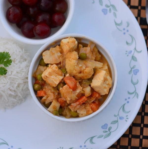 paneer-vegetable curry
