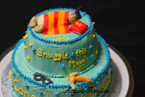 Cake Baby Shower Recipes : Harry Potter Baby Shower Cake - Aayis Recipes
