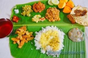 A vegetarian Konkani thali