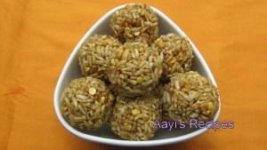 Puffed Rice Laddoo (Phulayil Phova Laddu / Chirmure Laddu)