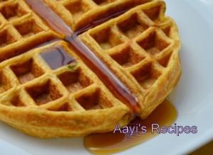 Wheat Flour – Flax Seed powder – Zucchini Waffles