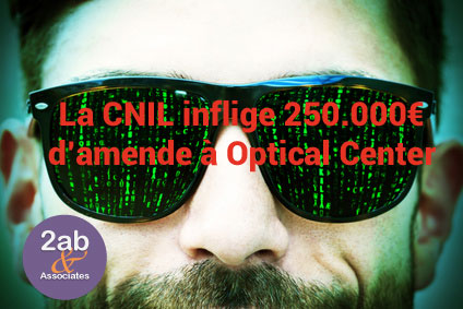 RGPD la CNIL sanctionne Optical Center