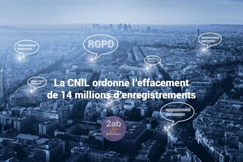 RGPD / GDPR : La CNIL met SINGLESPOT d'effacer 14 millions d'enregistrements