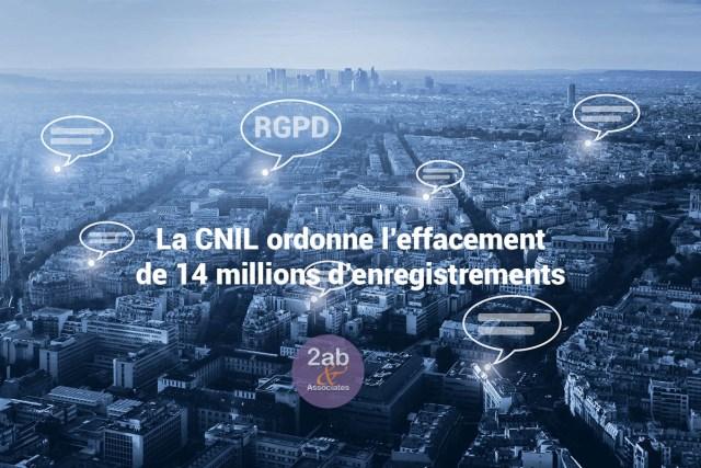 RGPD / GDPR : La CNIL met SINGLESPOT en demeure d'effacer 14 millions d'enregistrements de données personnelles