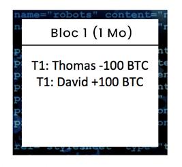 Blockchain - Etape 3 : l'algorithme de hachage sur le bloc 1