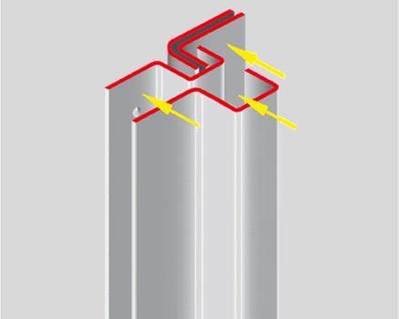 profil de recouvrement avec capot de sécurité ab fermetures le havre