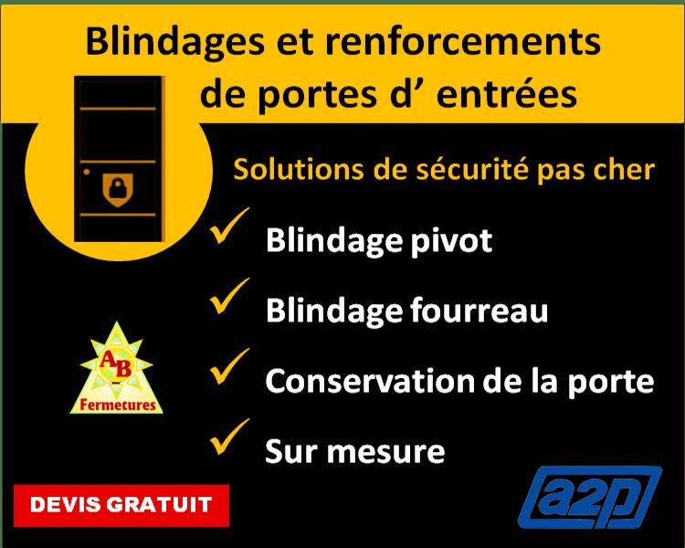 Blindages et renforcements de portes d' entrées Le Havre - AB Fermetures serrurier Le Havre
