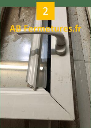 Démonstration réparation menuiserie pvc - Etape 2 - AB Fermetures Le Havre