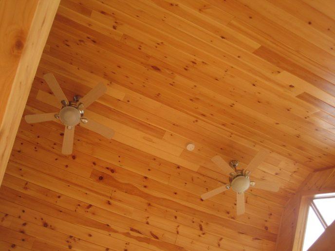Log Cabin Ceiling Fan Install
