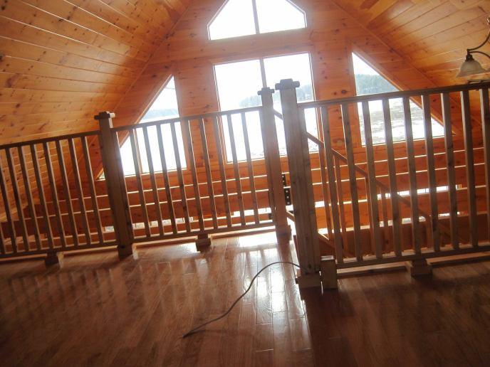 Log Cabin Chandelier & Fan