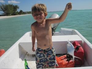 Success!  A happy fisherman!