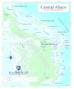 This map of Central Abaco includes the most visited Out Islands of The Abacos.