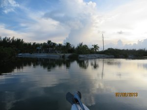 This is the fishing point viewed from our boat coming in the canal.