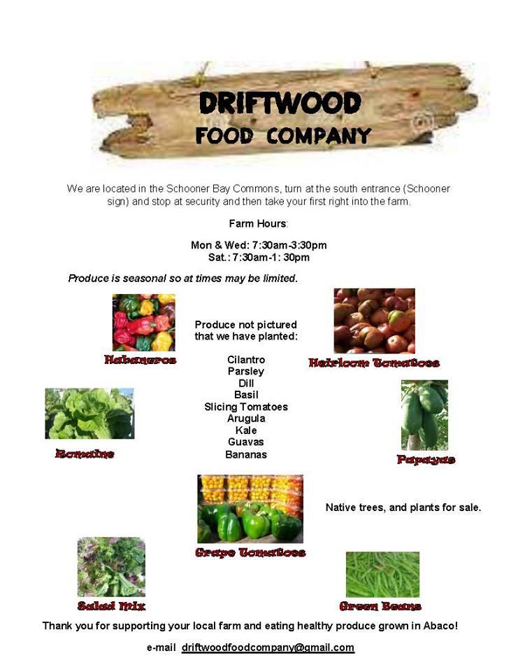 Driftwood Food Company February 2, 2015