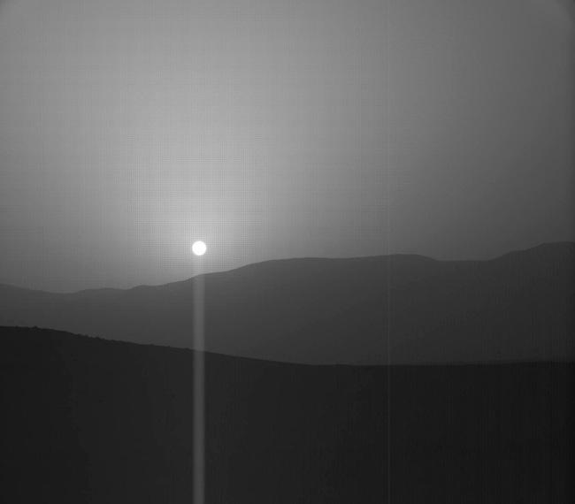 Curiosity capta esta fantástica puesta de Sol en Marte