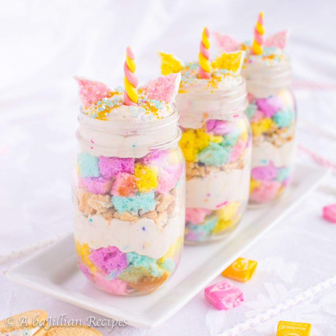 Wondrous Unicorn Mini Trifles A Bajillian Recipes Funny Birthday Cards Online Fluifree Goldxyz