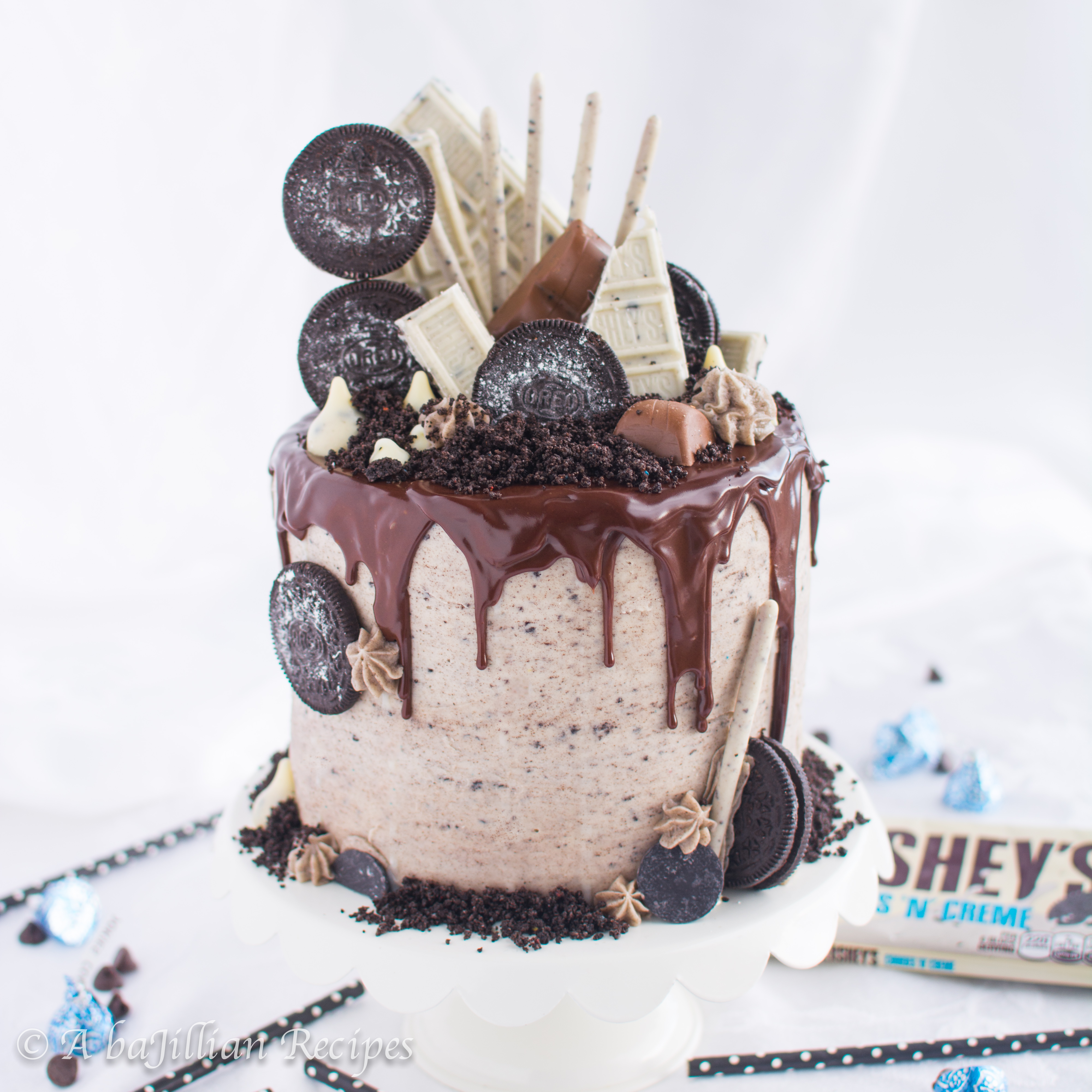 Amazing The Ultimate Oreo Cake A Bajillian Recipes Funny Birthday Cards Online Overcheapnameinfo