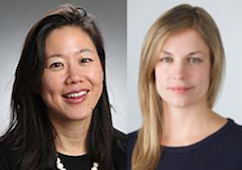 <p>Colleen Chien and Sarah Lageson.</p>
