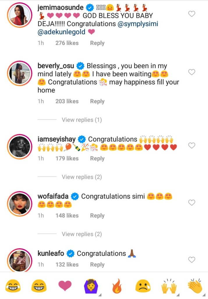 Celebrities Reacts As Simi Shares Cute Photograph Of Her New Born Baby