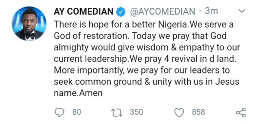 There is Hope for a Better Nigeria - AY Comedian