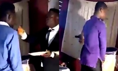 Pastor gave members his fingers to lick after eating eba and soup for Blessings (Video)