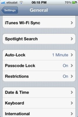 Iphone4s Siri Settings