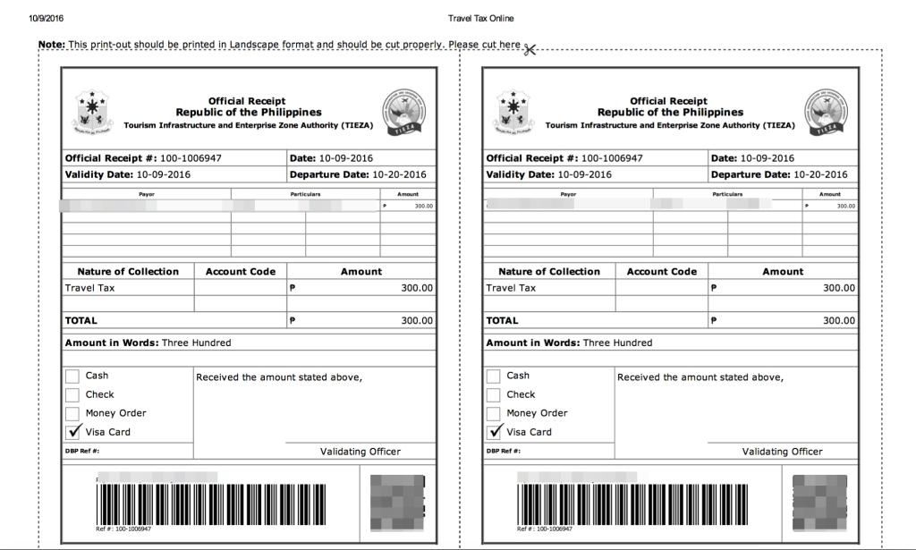 travel-tax-online-receipt