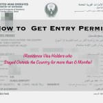 How to Get Entry Permit:  Residence Visa Holders who Stayed out of UAE for 6 Months