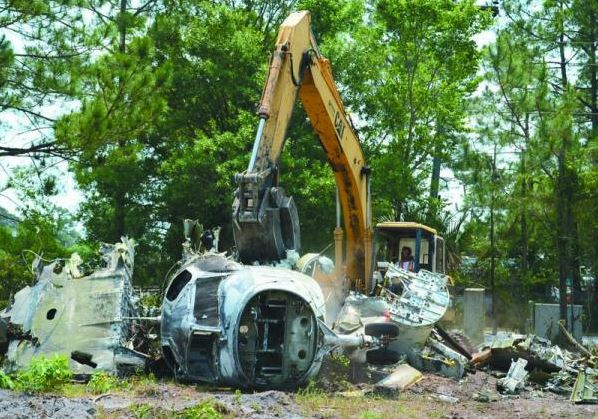 Photo Credit: The St. Augustine Record, 2011 - The planes were demolished and sold as scrap metal.