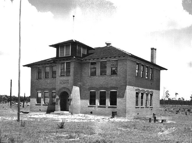 A view of the school during it's operation; circa 1925.