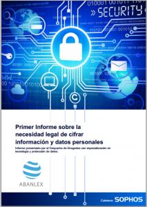 Primer Informe sobre la necesidad legal de cifrar información y datos personales