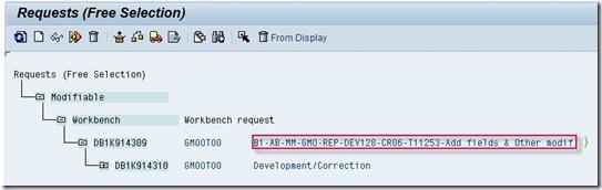 ABAP Cookbook - Finding Transport Request By Description in SE03