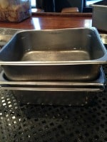 clarifying citrus with hotel pans