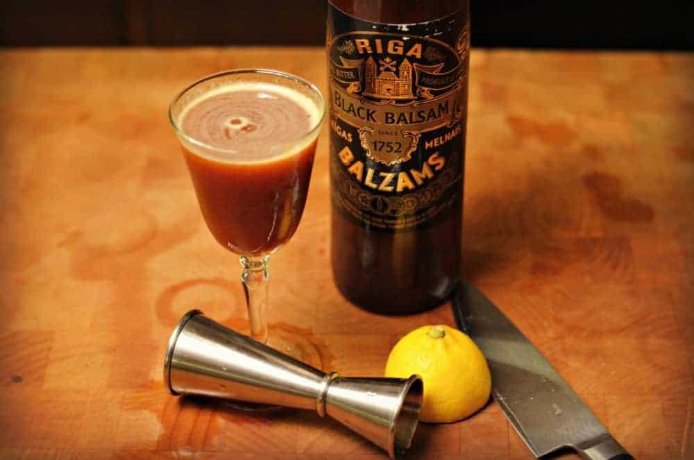 Black Pear Balsam Cocktail