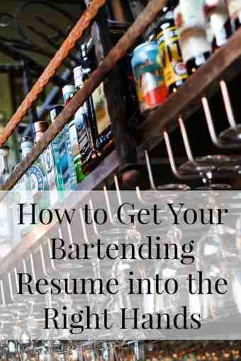 How to Get Your Bartending Resume into the Manager s Hands     A Bar Above PI   Bartender Resume