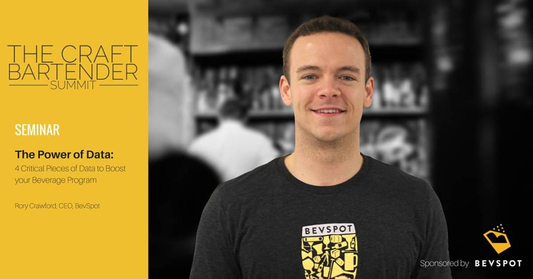 Craft Bartender Summit - The Power of Data Seminar - Rory Crawford