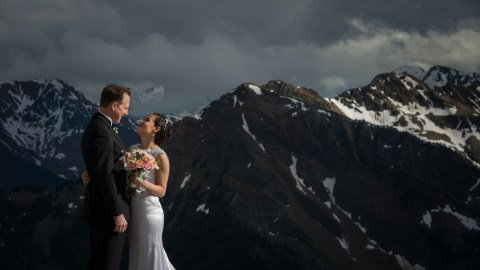 Adriana & Chris Kicking Horse Mountain Resort