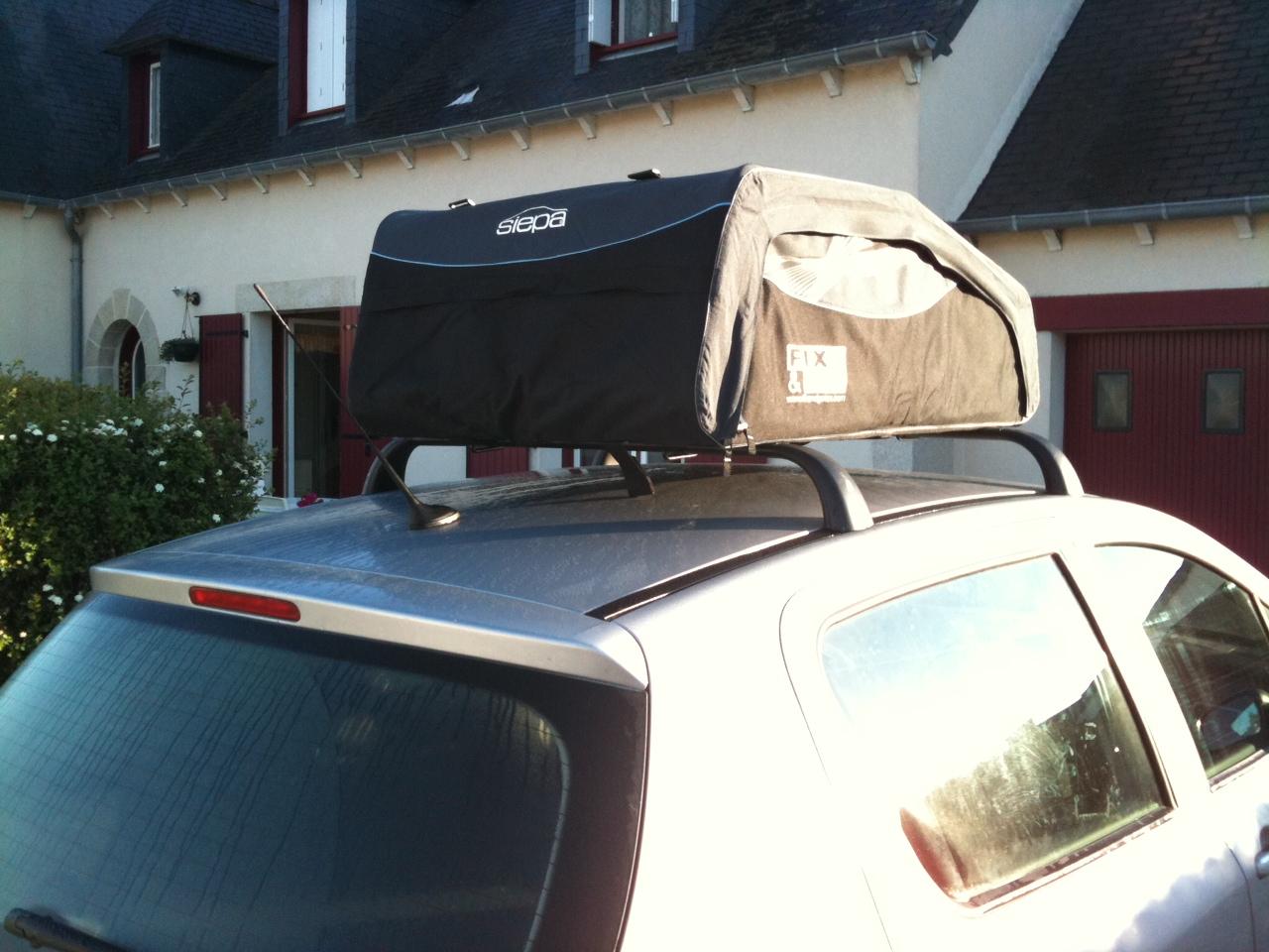 coffre de toit souple et pliable