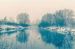 Wintermorgen an der Pegnitz