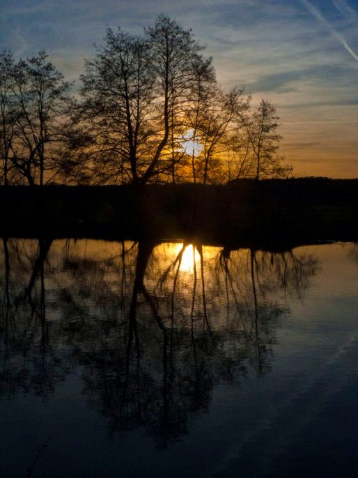 Sonnenuntergang in Erlangen-Bruck