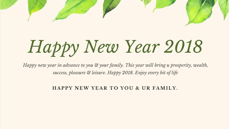 messages for new year 2018