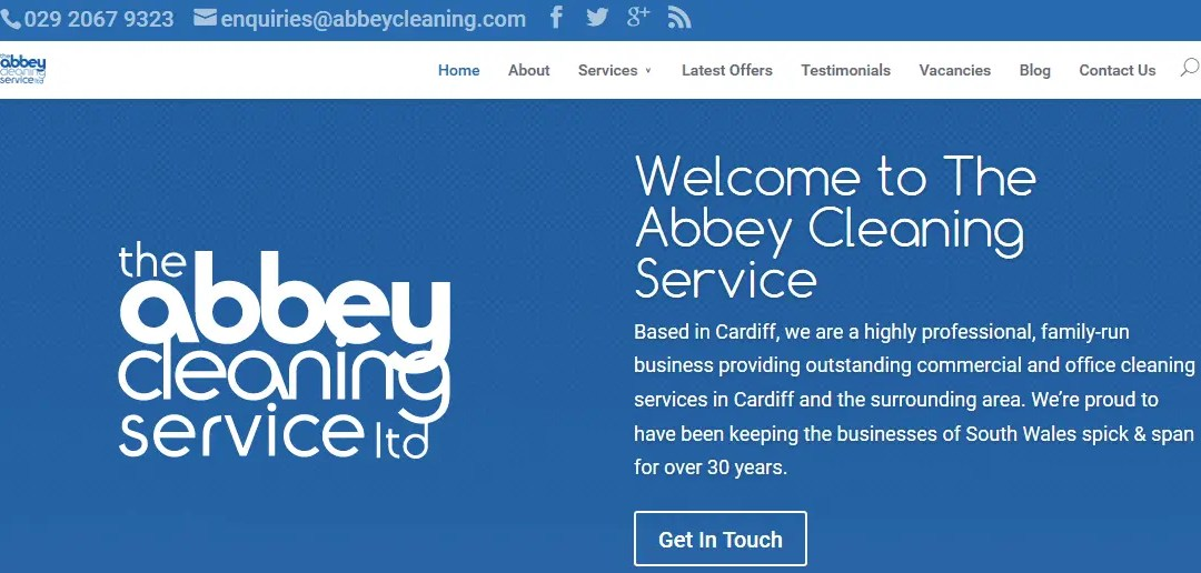 The Abbey Cleaning Service's New Website
