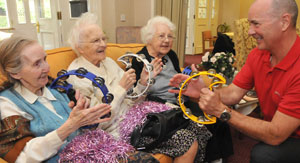 residents music session at abbeyfield newcastle residential care