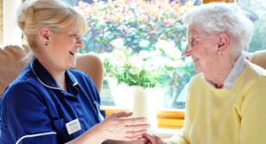 Abbeyfield newcastle staff shows care and support to resident