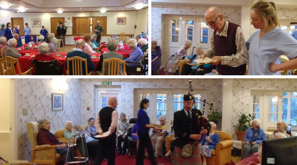 Burns night Celebration Grove residential Care