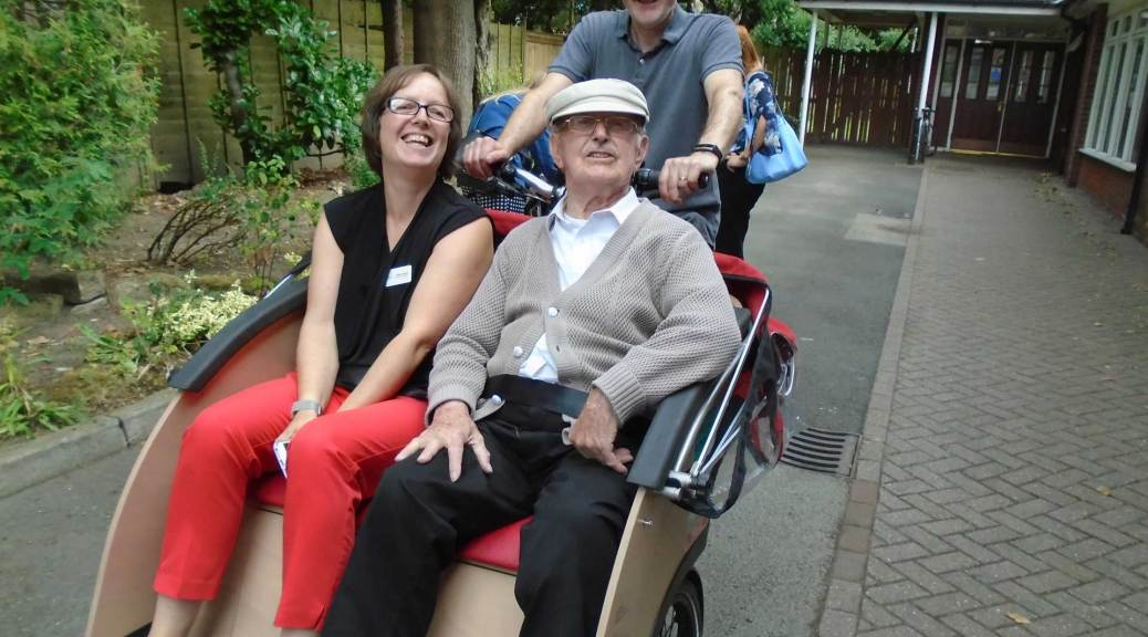 trishaw cycling without age with resident