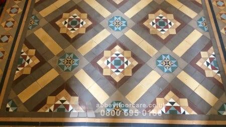 sealing victorian minton tile floor in walsall west midlands